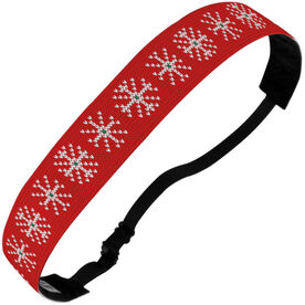 Athletic Julibands No-Slip Headbands - Snowflakes Knit