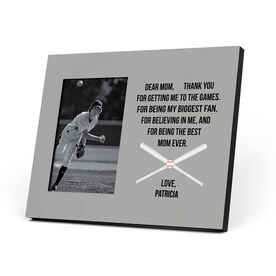 Baseball Photo Frame - Dear Mom Heart