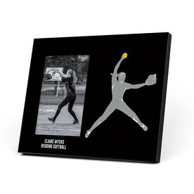 Softball Photo Frame - Pitcher