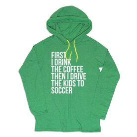Women's Soccer Lightweight Hoodie - Then I Drive The Kids To Soccer