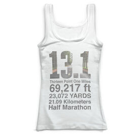 Running Vintage Fitted Tank Top - 13.1 Math Miles