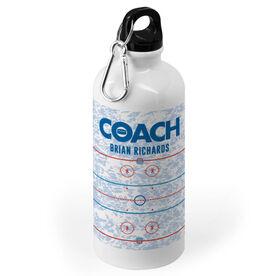 Hockey 20 oz. Stainless Steel Water Bottle - Coach Rink