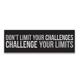 """Running 12.5"""" X 4"""" Removable Wall Tile - Don't Limit Your Challenges, Challenge Your Limits"""