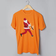 Baseball T-Shirt Short Sleeve Home Run Santa