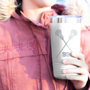 Guys Lacrosse 20 oz. Double Insulated Tumbler - Personalized Crossed Sticks