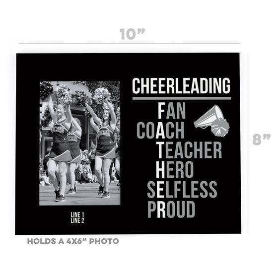 Cheerleading Photo Frame - Cheerleading Father Words