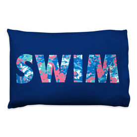 Swimming Pillowcase - Floral