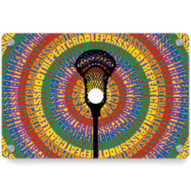 Guys Lacrosse Metal Wall Art Panel - Mantra Spiral