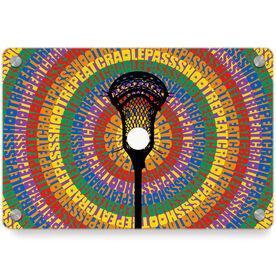 Guys Lacrosse Metal Wall Art Panel - Mantra Spiral