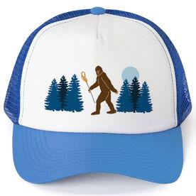 Guys Lacrosse Trucker Hat Bigfoot