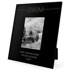 Swimming Engraved Picture Frame - Word