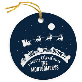 Porcelain Ornament - Santa Clause is Coming To Town