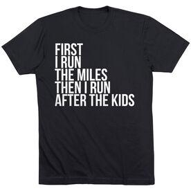 Running Short Sleeve T-Shirt - Then I Run After The Kids