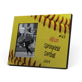 Softball Photo Frame - Softball Stitches Sweetspot