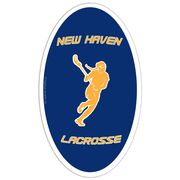 Girls Lacrosse Oval Car Magnet Personalized Player