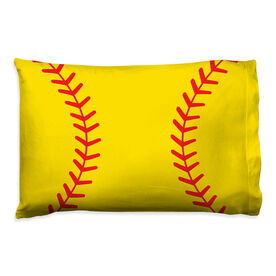 Softball Pillowcase - Close Up Stitches