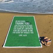 Figure Skating Premium Beach Towel - Dear Dad