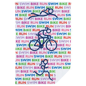 Triathlon Premium Blanket - Swim Bike Run Repeat Girls