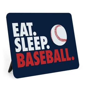 Baseball Desk Art - Eat. Sleep. Baseball.