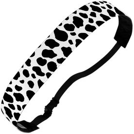 Athletic Julibands No-Slip Headbands - Cow Print