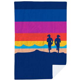 Running Premium Blanket - Sunset With Runners