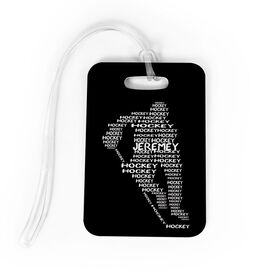 Hockey Bag/Luggage Tag - Personalized Hockey Words Male Player