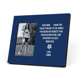Soccer Photo Frame - Dear Mom Heart