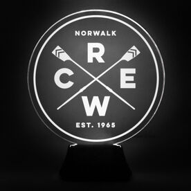 Crew Acrylic LED Lamp Crossed Oars With Name and Year