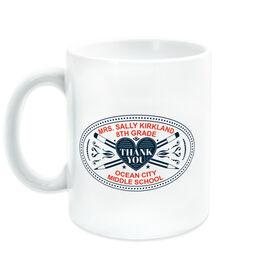 Teacher Coffee Mug - Heart Crest