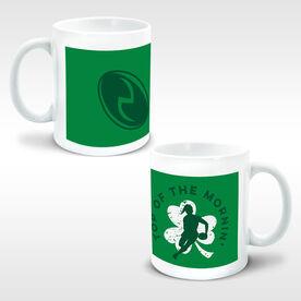 Rugby Coffee Mug Top Of The Mornin' Female Shamrock