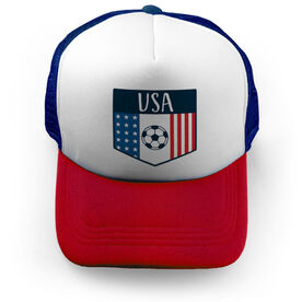 Soccer Trucker Hat - USA Crest