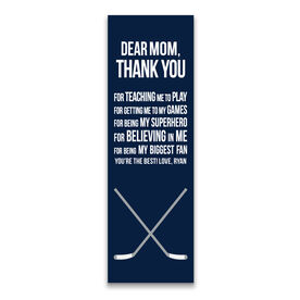"Hockey 12.5"" X 4"" Removable Wall Tile - Dear Mom (Vertical)"