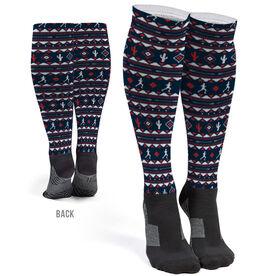 Running Printed Knee-High Socks - Running Guy Tribal