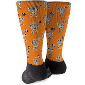Seams Wild Wrestling Printed Mid-Calf Socks - Llama Slamma (Pattern)