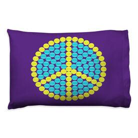 Tennis Pillowcase - Peace Ball Circle