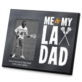 Lacrosse Personalized Photo Frame Me & My Lax Dad