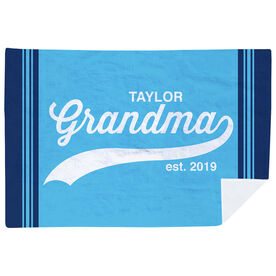 Personalized Premium Blanket - Rocking Being A Grandma