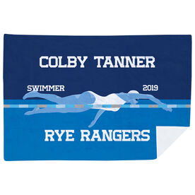 Swimming Premium Blanket - Personalized Swimming Girl Team