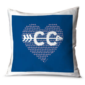 Cross Country Throw Pillow Track CC Heart