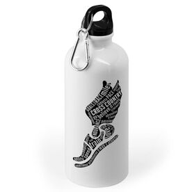 Cross Country 20 oz. Stainless Steel Water Bottle - Inspirational Words Winged Foot