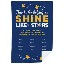Personalized Teacher Premium Blanket - Shine Like Stars