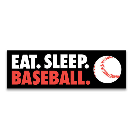 "Baseball 12.5"" X 4"" Removable Wall Tile - Eat Sleep Baseball"