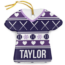 Softball Porcelain Ornament Ugly Sweater