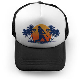 Baseball Trucker Hat Baseball Sunset