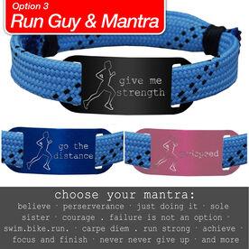 RaceLACE Mantra Bracelet w/ Running Guy - BLUE