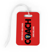 Girls Lacrosse Bag/Luggage Tag - Personalized Coach