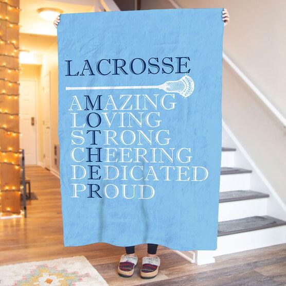 Guys Lacrosse Premium Blanket - Mother Words