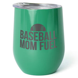 Baseball Stainless Steel Wine Tumbler - Baseball Mom Fuel