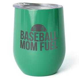 Baseball Stainless Steel Wine Tumbler - Baseball Mom Fuel