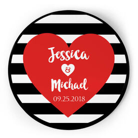 Personalized Circle Plaque - Love Our Chic Heart Text